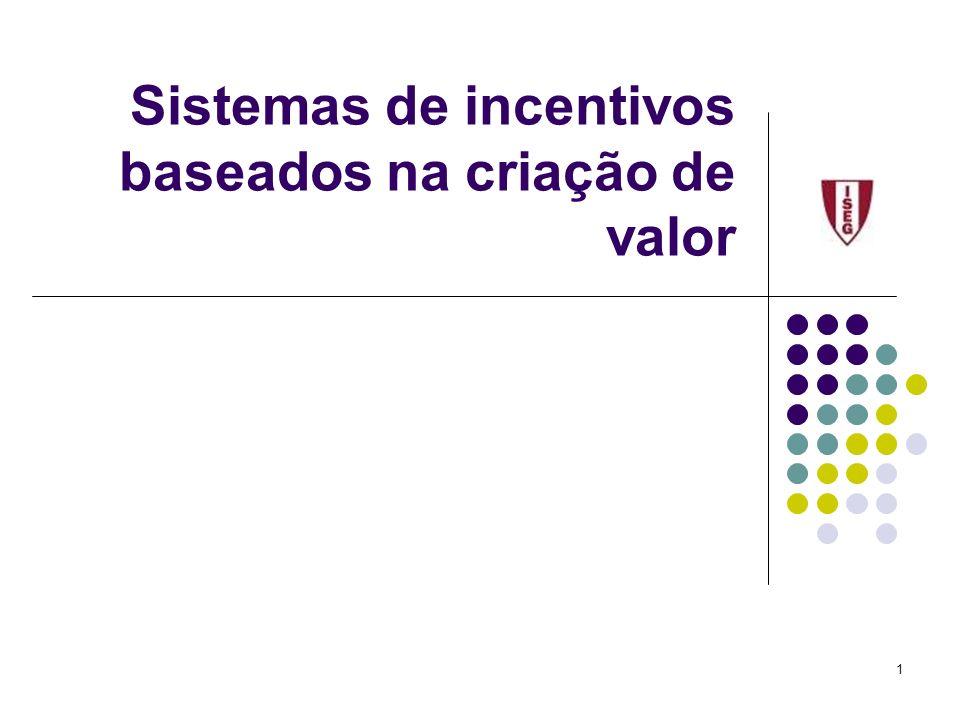 1 Sistemas de incentivos baseados na criação de valor