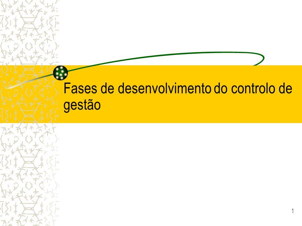 1 Fases de desenvolvimento do controlo de gestão