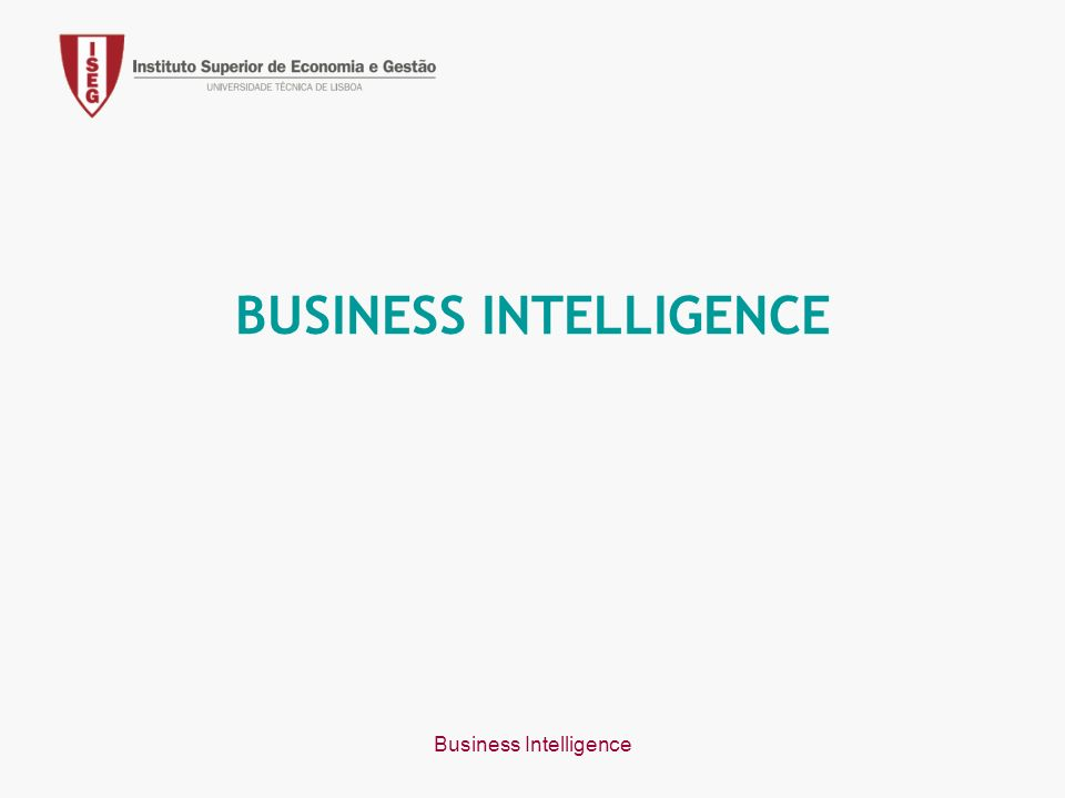 Business Intelligence BUSINESS INTELLIGENCE