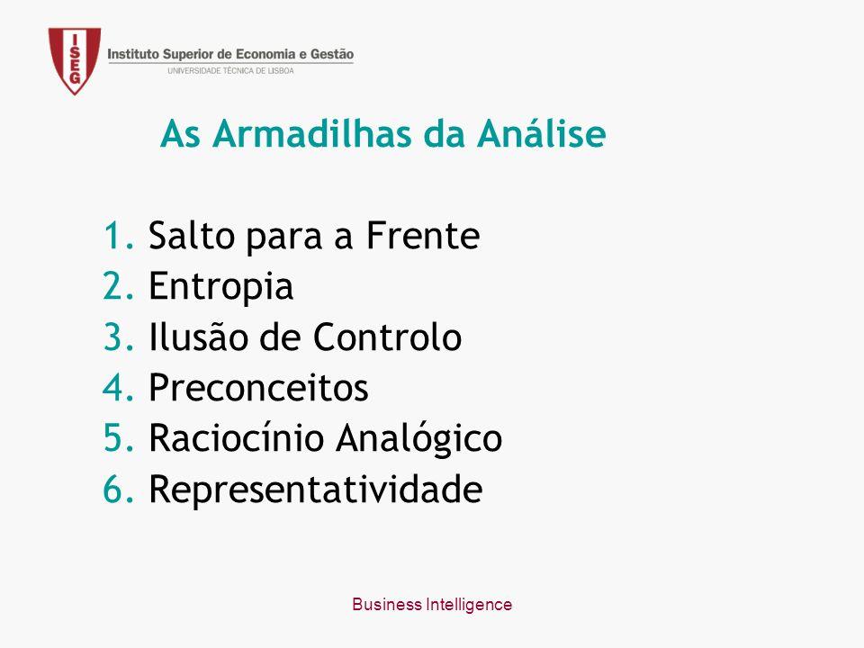 Business Intelligence As Armadilhas da Análise 1. Salto para a Frente 2.