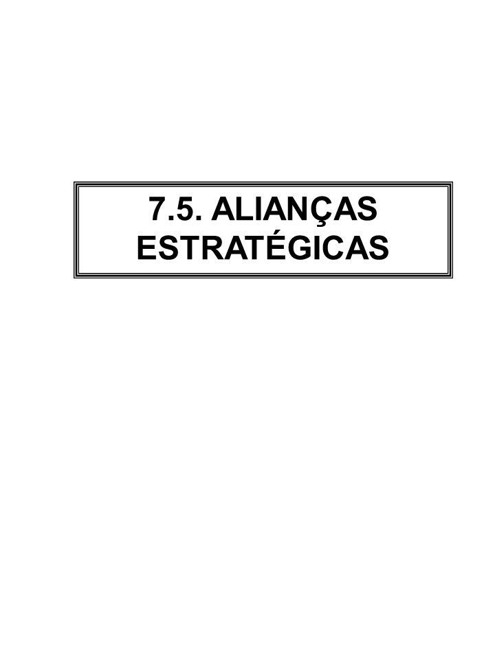 7.5. ALIANÇAS ESTRATÉGICAS