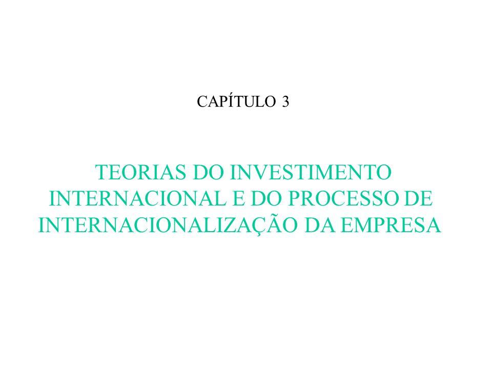 CAPÍTULO 3 TEORIAS DO INVESTIMENTO INTERNACIONAL E DO PROCESSO DE INTERNACIONALIZAÇÃO DA EMPRESA