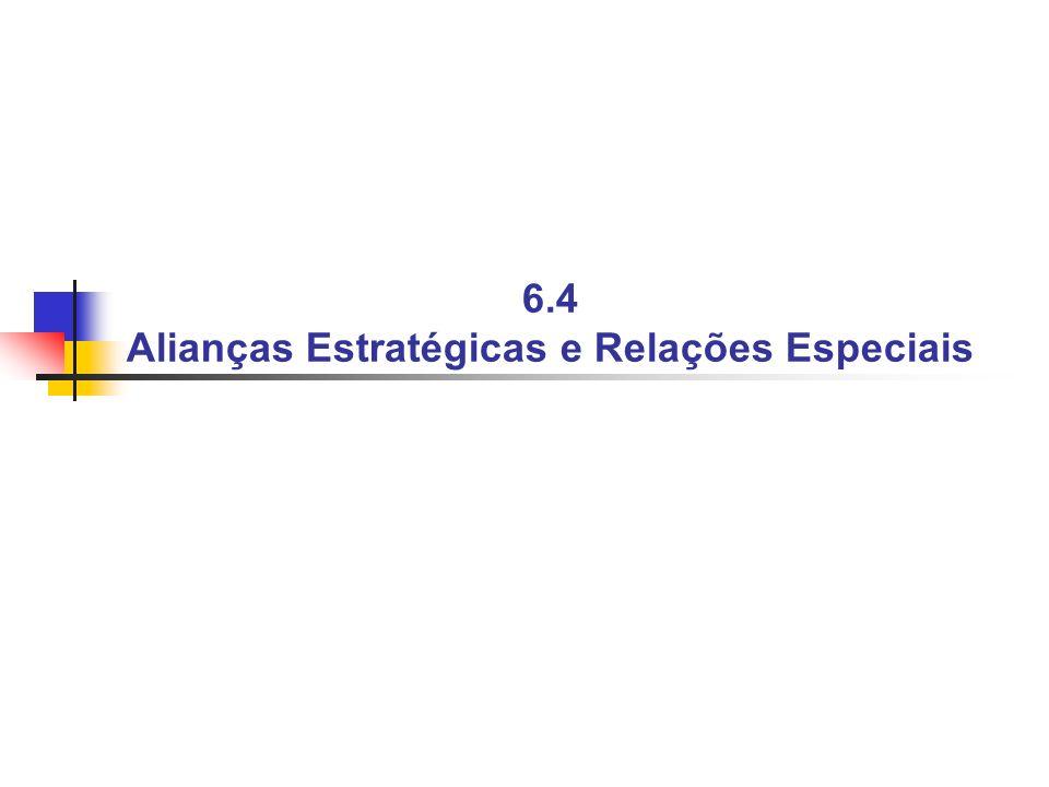6.4 Alianças Estratégicas e Relações Especiais