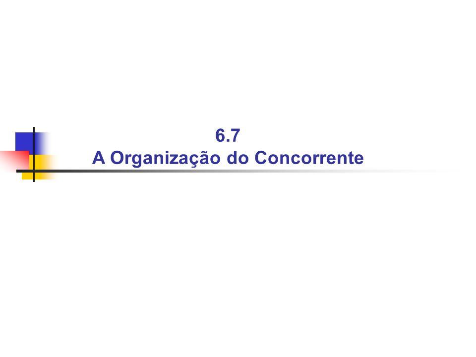 6.7 A Organização do Concorrente