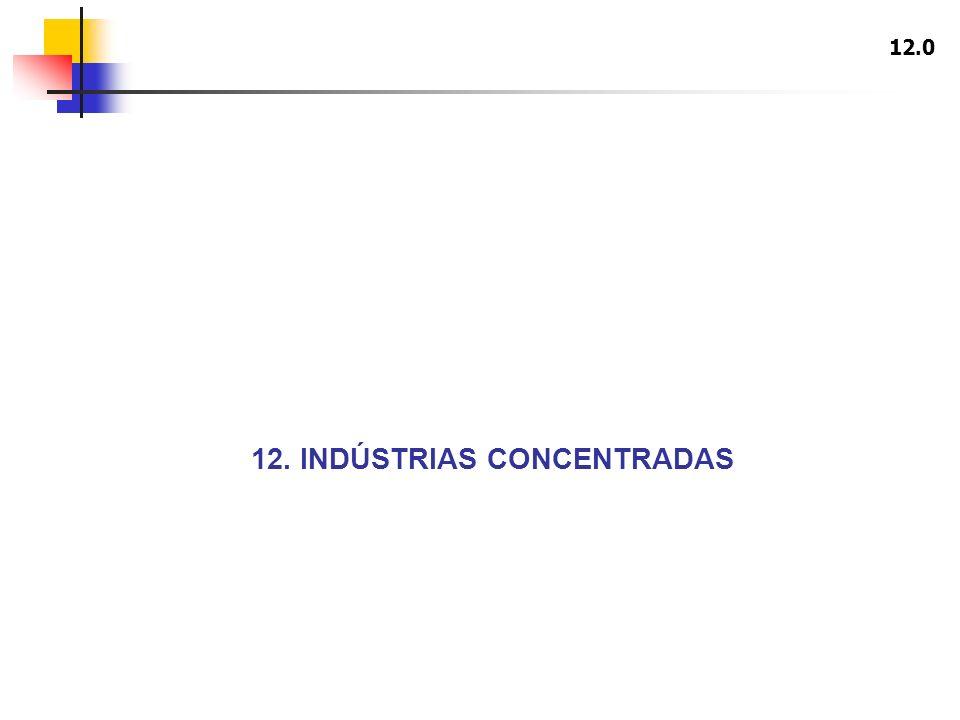 12. INDÚSTRIAS CONCENTRADAS 12.0