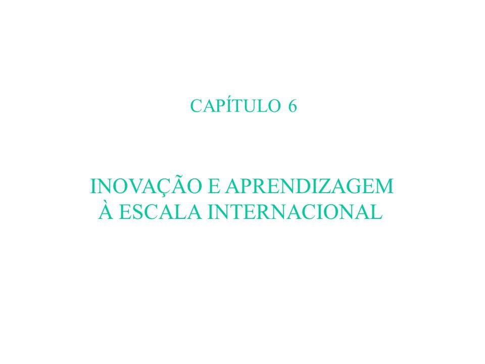 CAPÍTULO 6 INOVAÇÃO E APRENDIZAGEM À ESCALA INTERNACIONAL