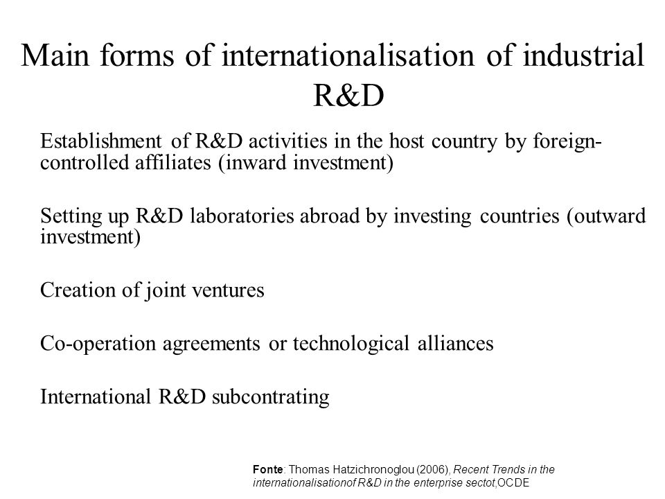 Conclusions undoubted benefits of multi-hub structures, but also new costs Greater investment in human, managerial and financial resources to promote knowledge integration within a geographically and technologically dispersed R&D structure.