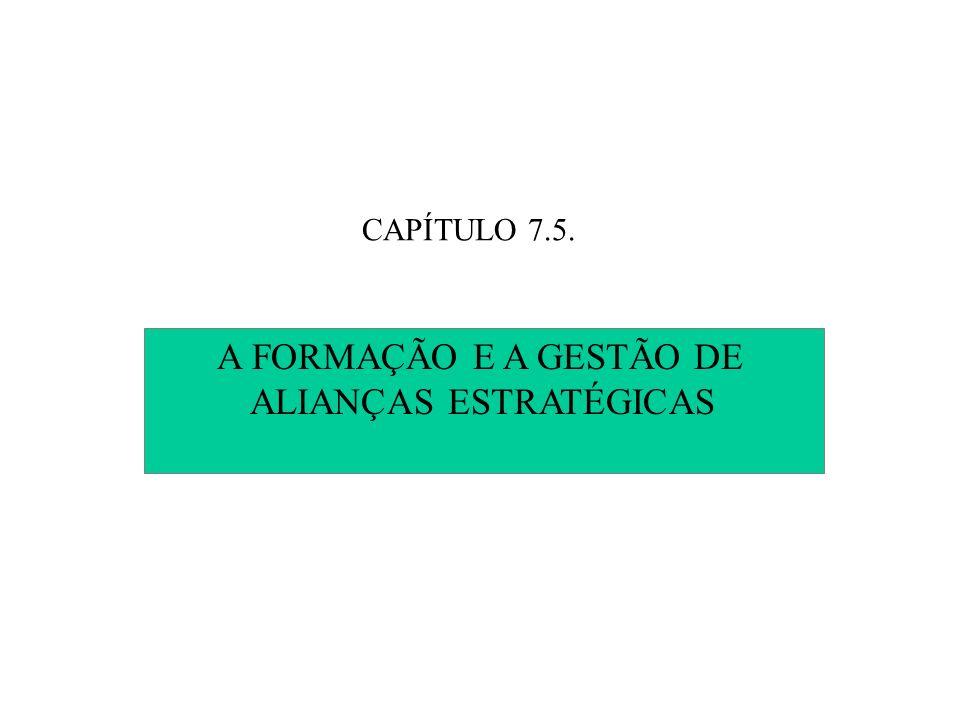 CAPÍTULO 7.5. A FORMAÇÃO E A GESTÃO DE ALIANÇAS ESTRATÉGICAS