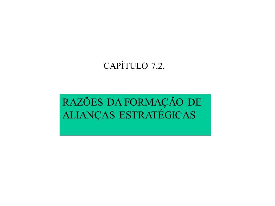 CAPÍTULO 7.2. RAZÕES DA FORMAÇÃO DE ALIANÇAS ESTRATÉGICAS