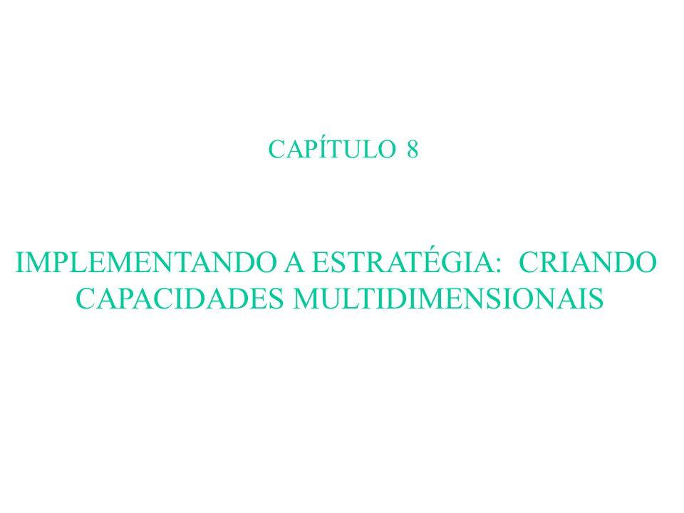 CAPÍTULO 8 IMPLEMENTANDO A ESTRATÉGIA: CRIANDO CAPACIDADES MULTIDIMENSIONAIS