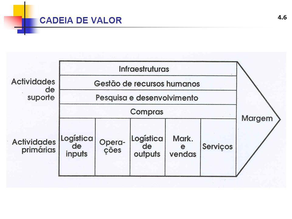 4.6 CADEIA DE VALOR