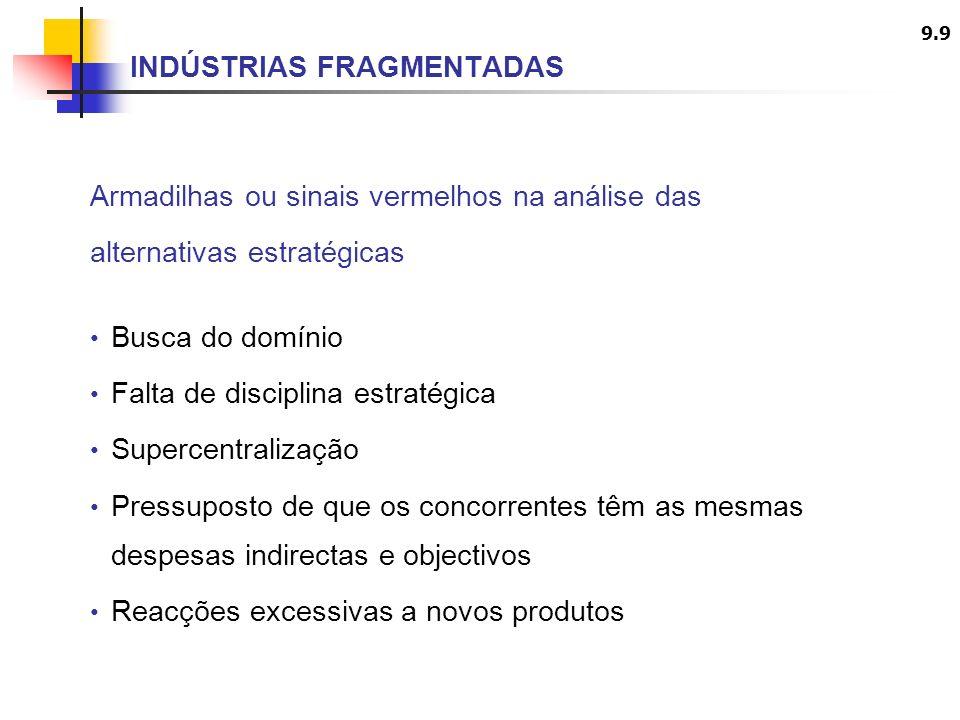 9.10 ETAPAS PARA A FORMULAÇÃO DE ESTRATÉGIA COMPETITIVA EM INDÚSTRIAS FRAGMENTADAS 1.