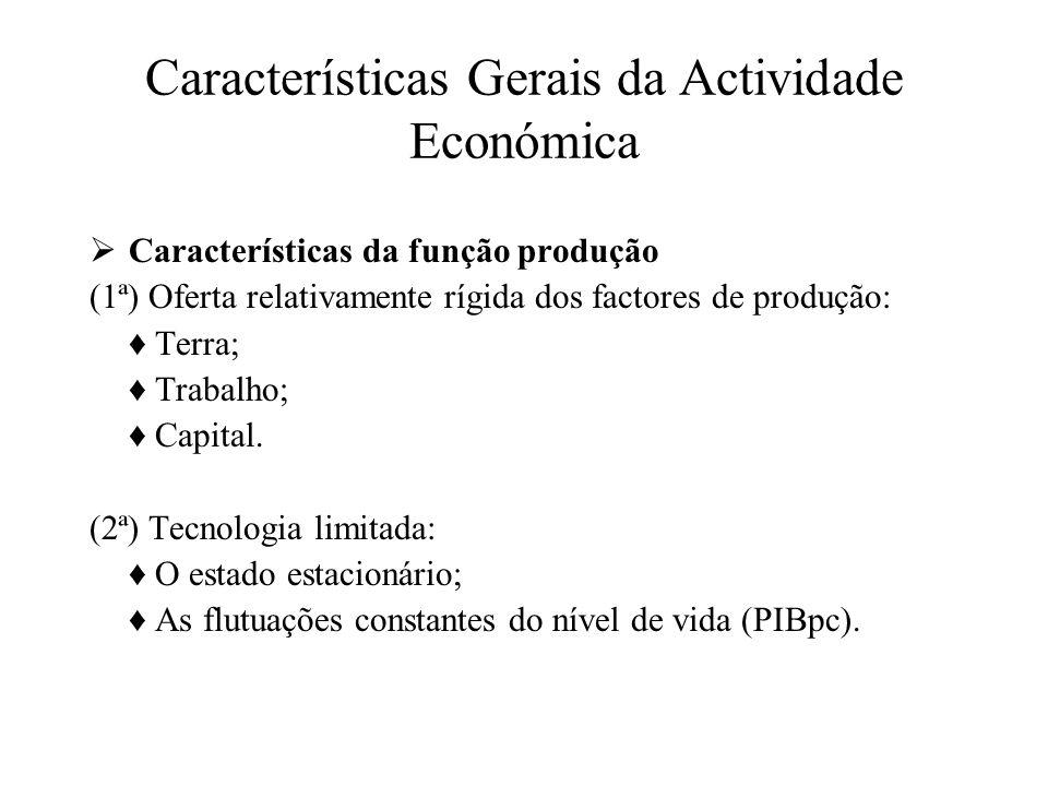 Características Gerais da Actividade Económica Estrutura da Actividade Económica Agricultura 1- Actividade económica dominante Produto Agrícola e População Activa.