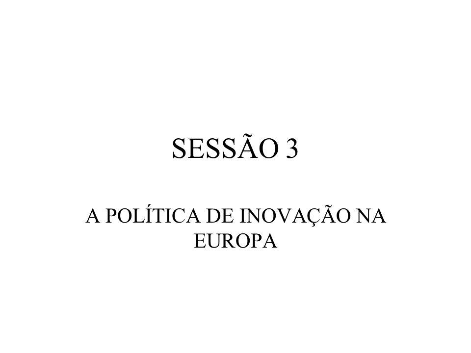 SESSÃO 3 A POLÍTICA DE INOVAÇÃO NA EUROPA