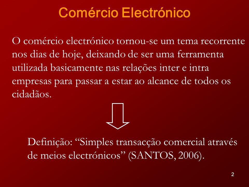 33 Conclusões O comércio electrónico promove a qualidade das transacções e contribui para a competitividade da conjuntura económica; Numa economia global, os vários tipos de pagamento electrónicos encontram-se em constante mudança.