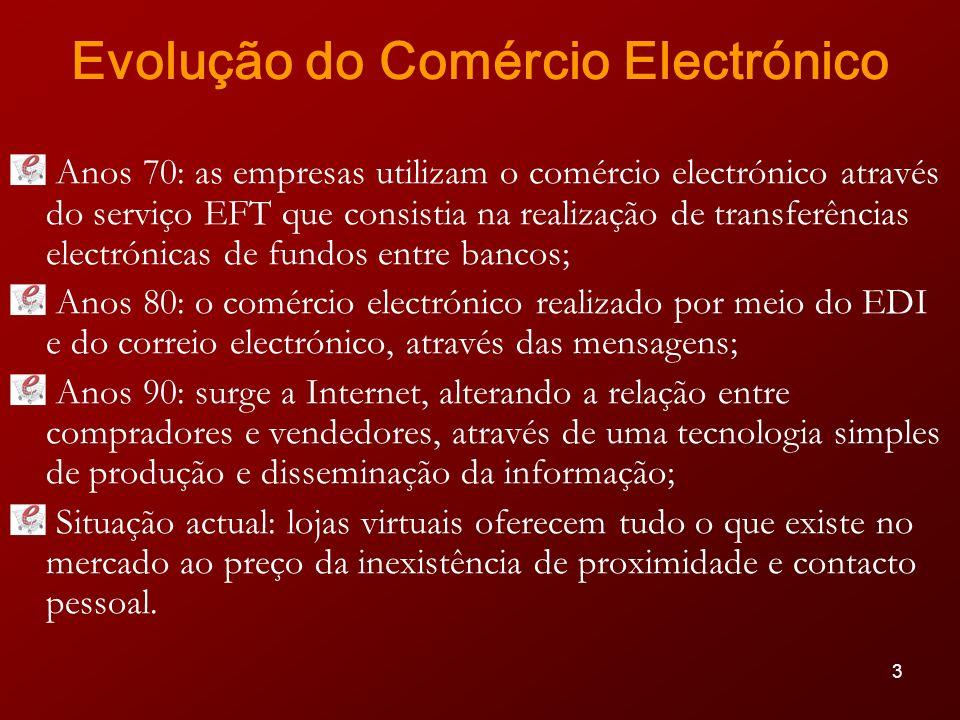 14 Cheque Electrónico (e-check) Mecanismo de pagamento no âmbito do comércio electrónico; Imita o cheque de papel, só que a ordem é em formato electrónico.