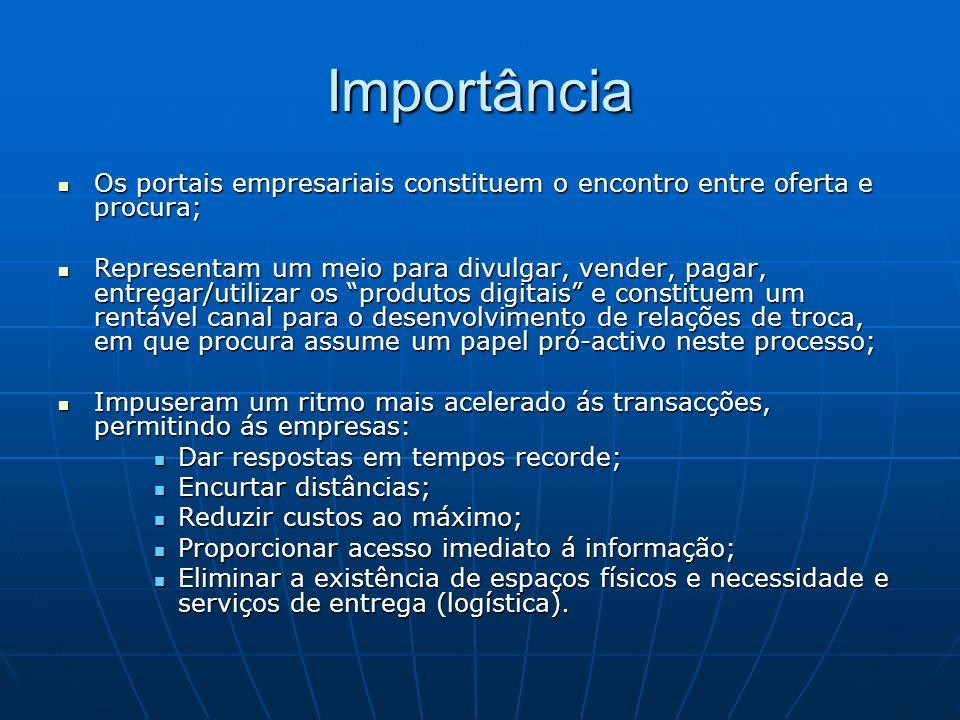 Empresas Portuguesas, o aprovisionamento As funções de sourcing e procurement podem ser fortemente optimizadas com a existência dos portais empresariais.