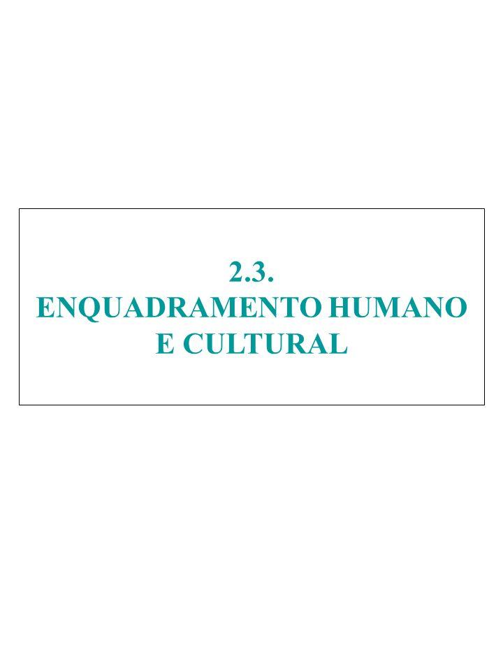 2.3. ENQUADRAMENTO HUMANO E CULTURAL