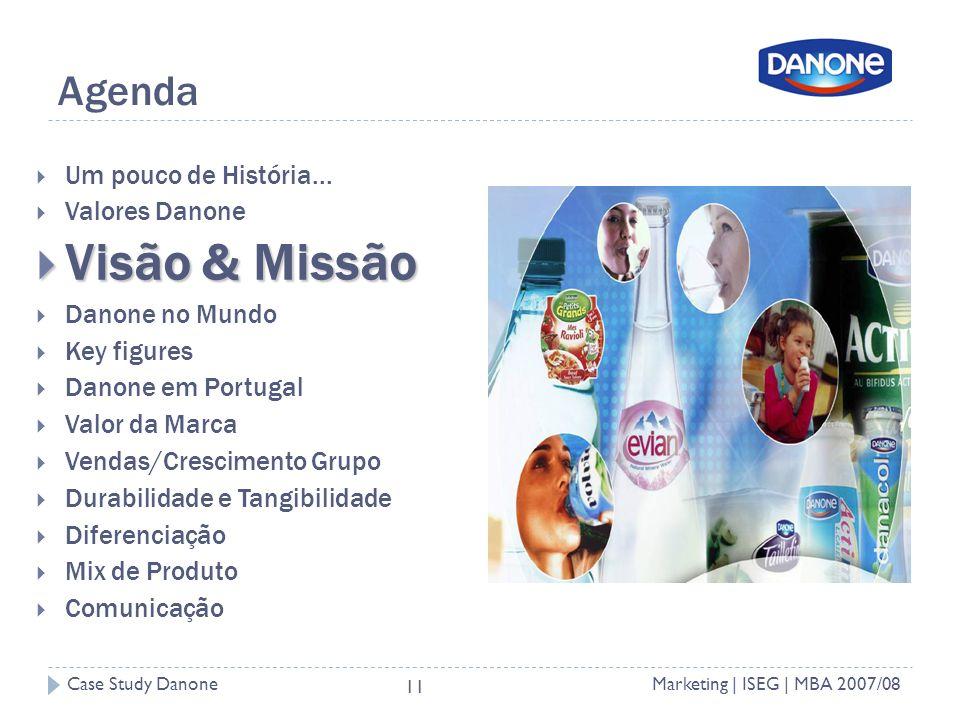 Case Study DanoneMarketing | ISEG | MBA 2007/08 11 Agenda Um pouco de História...