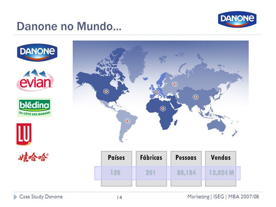 Case Study DanoneMarketing | ISEG | MBA 2007/08 14 Danone no Mundo...