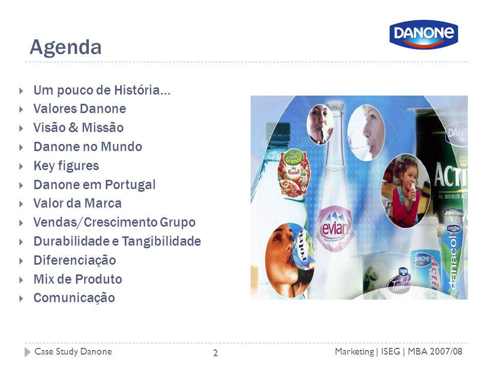 Case Study DanoneMarketing | ISEG | MBA 2007/08 2 Agenda Um pouco de História...