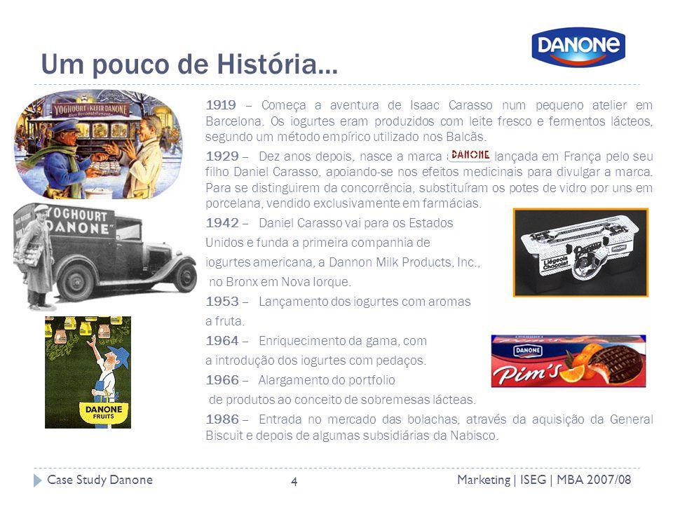 Case Study DanoneMarketing | ISEG | MBA 2007/08 4 Um pouco de História...