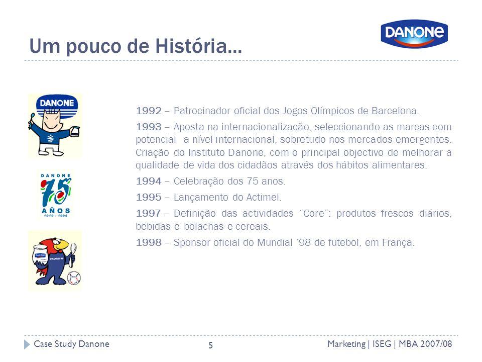 Case Study DanoneMarketing | ISEG | MBA 2007/08 5 Um pouco de História...