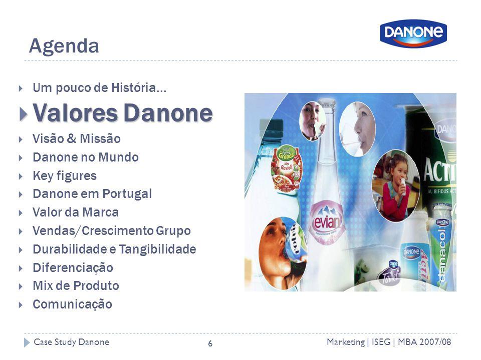 Case Study DanoneMarketing | ISEG | MBA 2007/08 6 Agenda Um pouco de História...