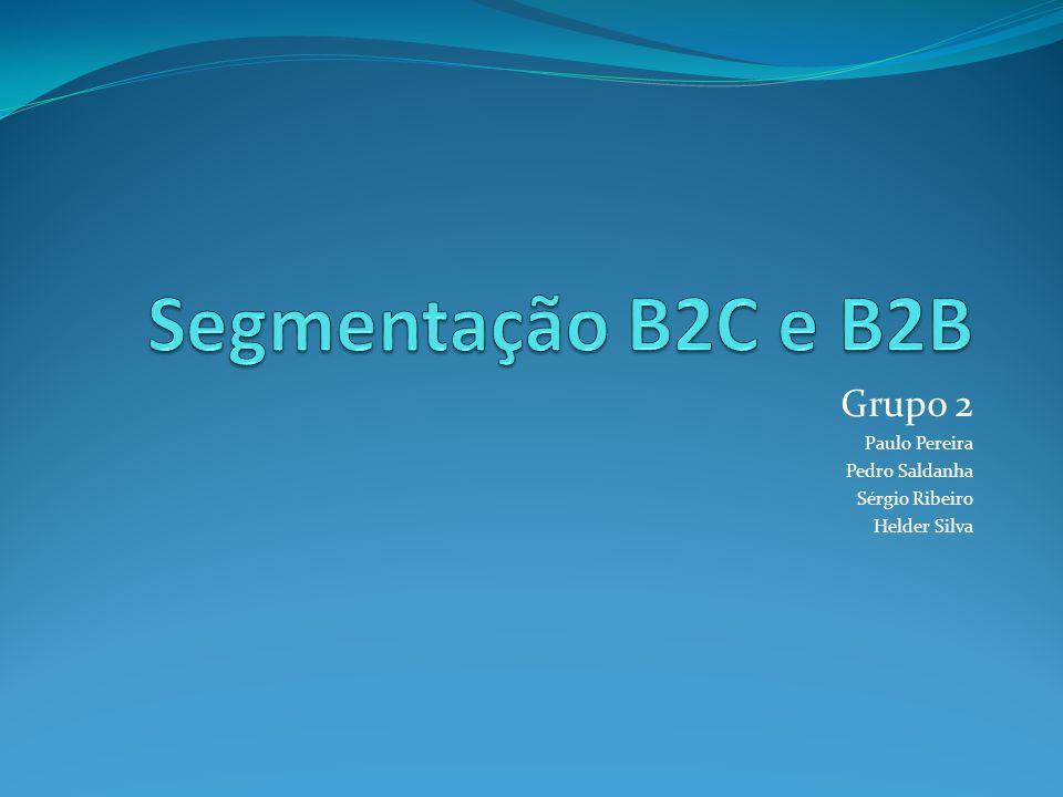 Segmentação Definir sub-grupos de pessoas ou organizações que partilham características que causam necessidades similares de produtos.