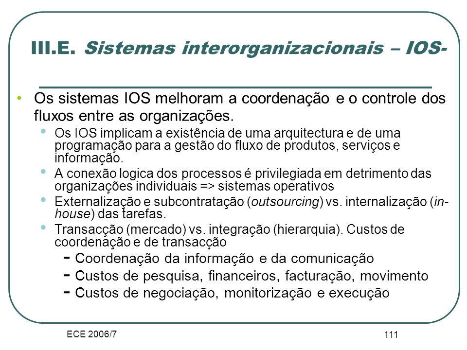 ECE 2006/7 110 Diferenciação preços e personalização dos produtos Diferenciação horizontal e vertical. Agrupamento (bundling). Desagregação e micropag