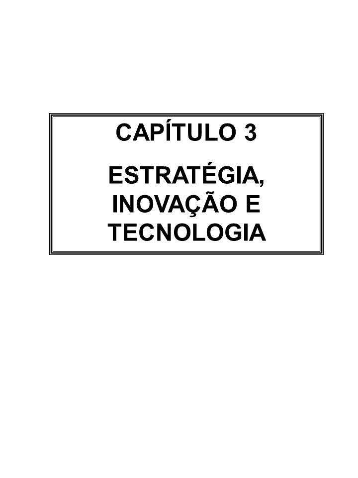 CAPÍTULO 3 ESTRATÉGIA, INOVAÇÃO E TECNOLOGIA