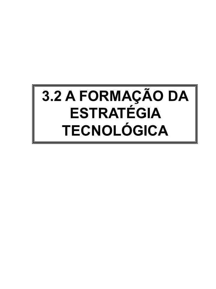 3.2 A FORMAÇÃO DA ESTRATÉGIA TECNOLÓGICA
