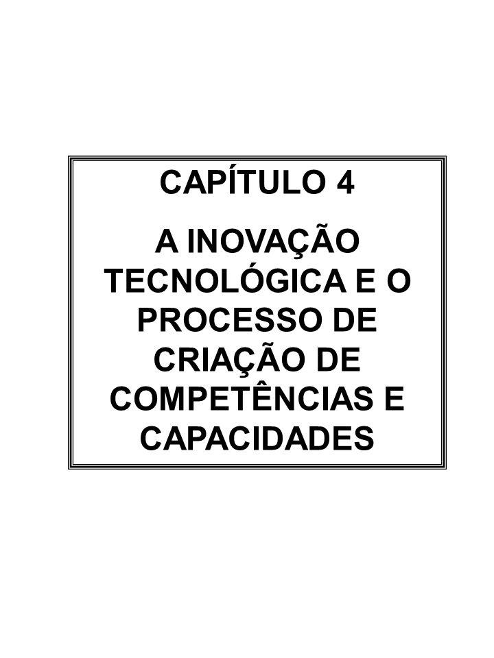 CAPÍTULO 4 A INOVAÇÃO TECNOLÓGICA E O PROCESSO DE CRIAÇÃO DE COMPETÊNCIAS E CAPACIDADES