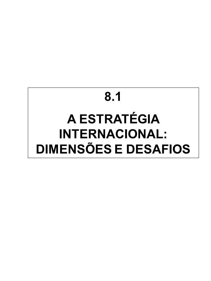 8.1 A ESTRATÉGIA INTERNACIONAL: DIMENSÕES E DESAFIOS