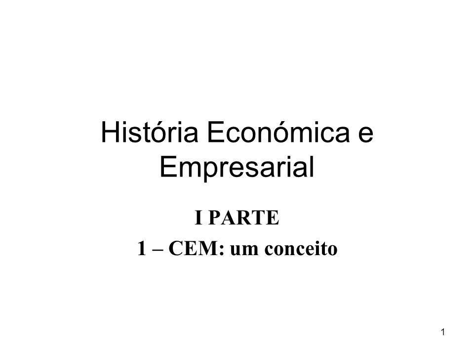 1 História Económica e Empresarial I PARTE 1 – CEM: um conceito