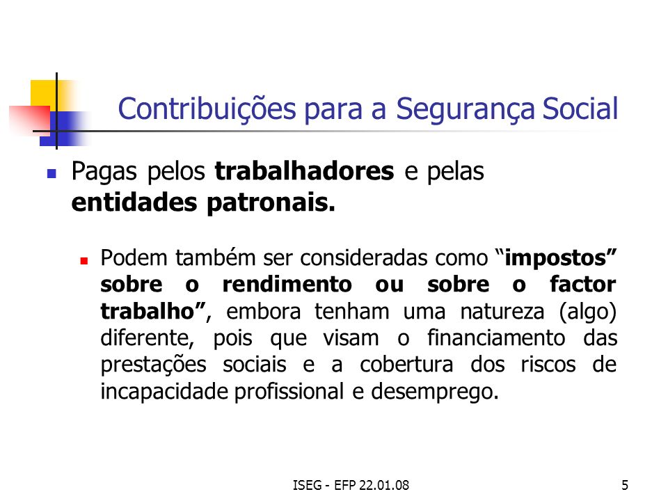 ISEG - EFP 22.01.086 Sistema Fiscal Português Titularidade da respectiva receita: Impostos sobre o rendimento e sobre a despesa são, essencialmente, receita do Estado e das Regiões Autónomas (na parte nelas gerada).
