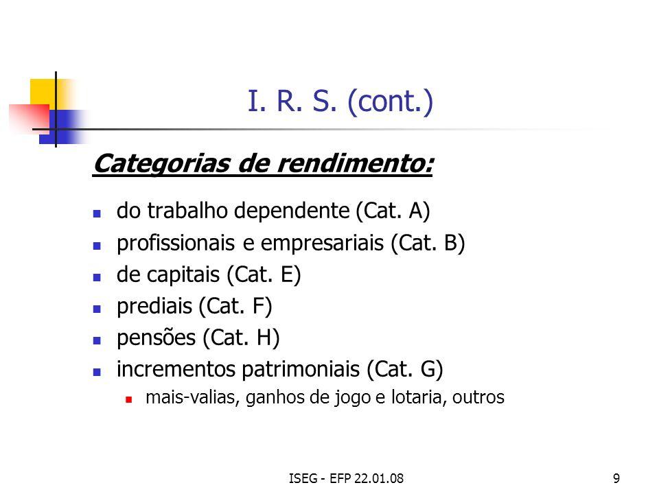 ISEG - EFP 22.01.0810 I.R. S.