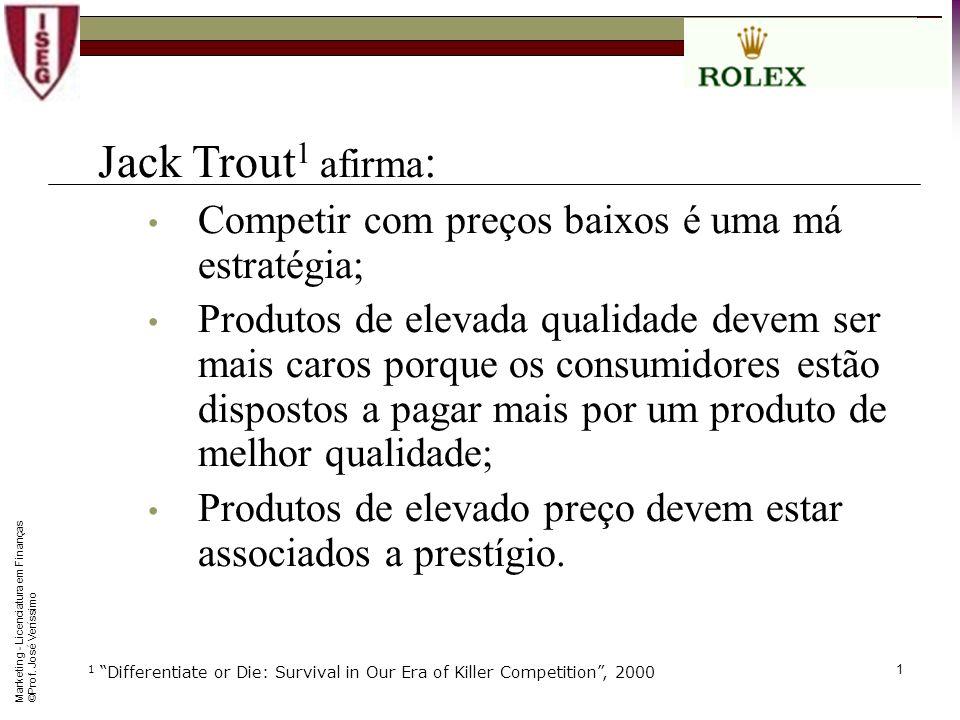 0 Marketing Trabalho Grupo ROLEX Prof. José M. Veríssimo