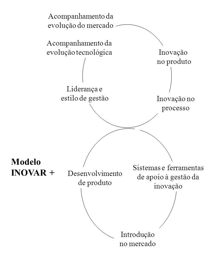 Acompanhamento da evolução do mercado Acompanhamento da evolução tecnológica Liderança e estilo de gestão Inovação no produto Desenvolvimento de produ
