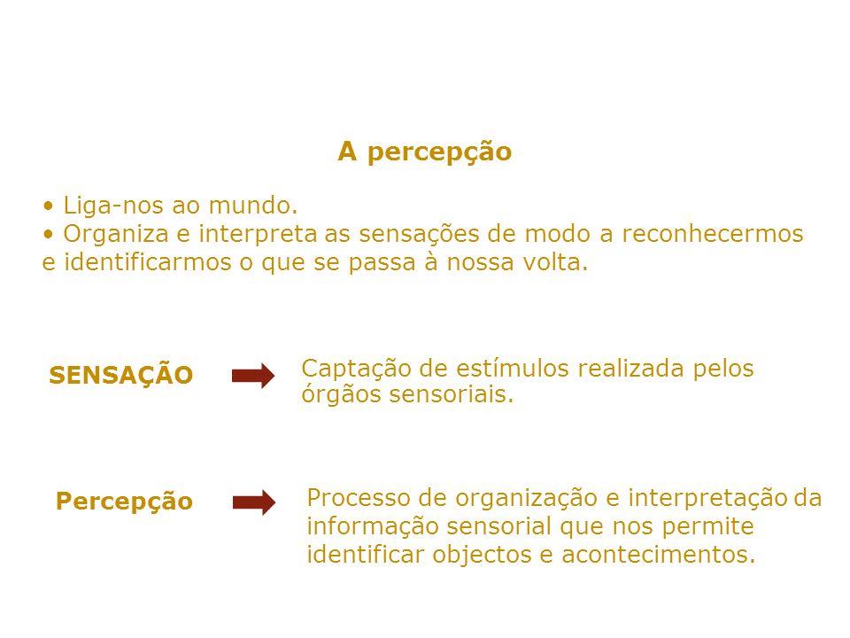 A organização perceptiva Segundo os psicólogos da gestalt: a percepção é sempre de figuras ou formas salientes e vivas que se inscrevem em fundos reentrantes e neutros.