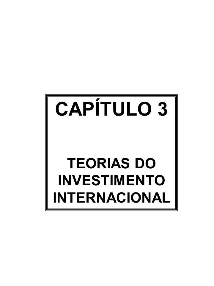 CAPÍTULO 3 TEORIAS DO INVESTIMENTO INTERNACIONAL