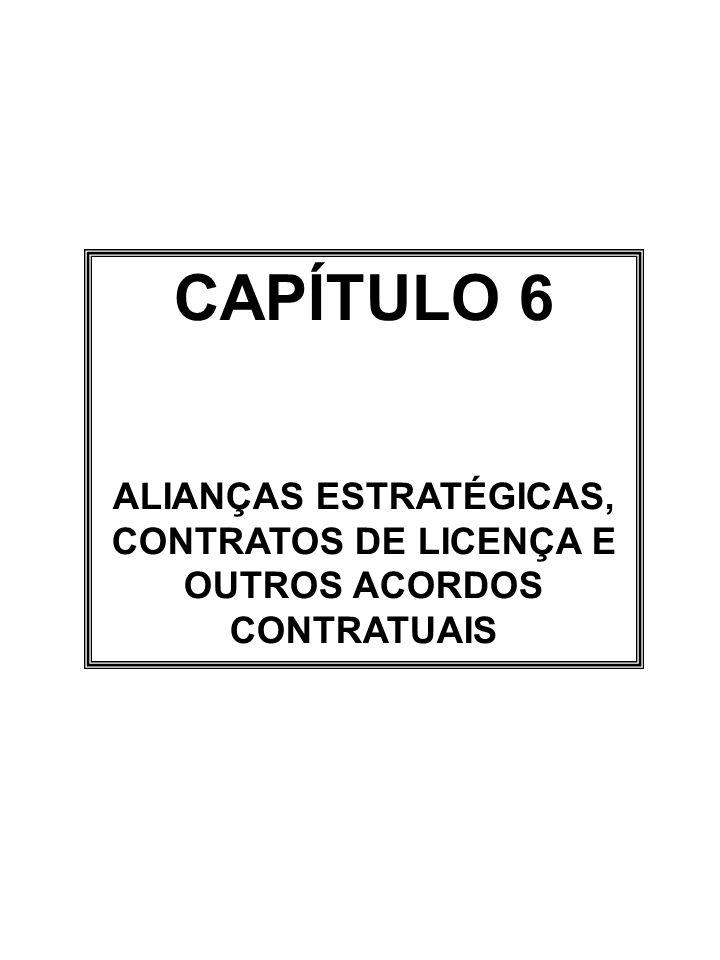 CAPÍTULO 6 ALIANÇAS ESTRATÉGICAS, CONTRATOS DE LICENÇA E OUTROS ACORDOS CONTRATUAIS