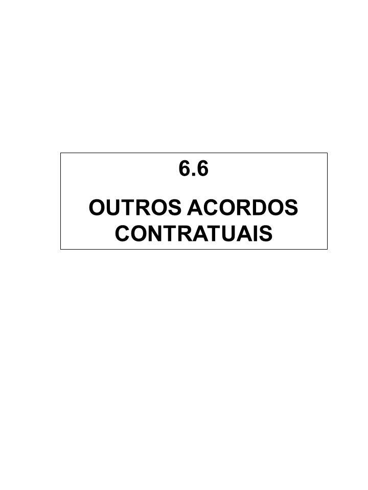 6.6 OUTROS ACORDOS CONTRATUAIS
