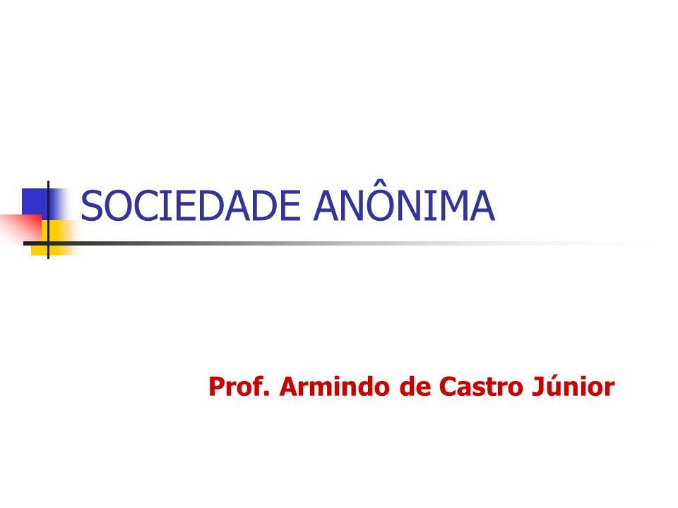 SOCIEDADE ANÔNIMA Prof. Armindo de Castro Júnior
