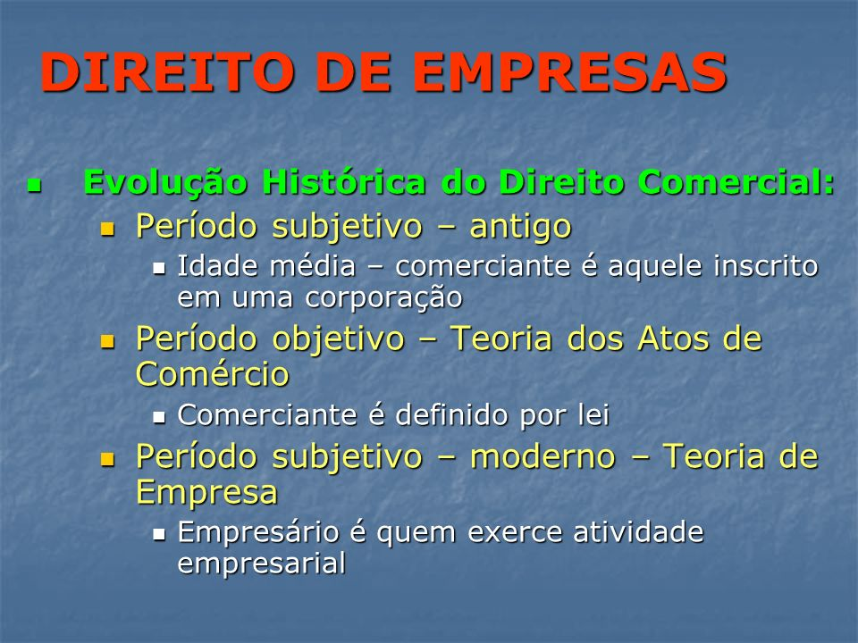 DIREITO DE EMPRESAS PERFIL FUNCIONAL: PERFIL FUNCIONAL: Empresa é uma atividade econômica organizada, para a produção e circulação de bens ou serviços, que se faz por meio de um estabelecimento e por vontade do empresário.