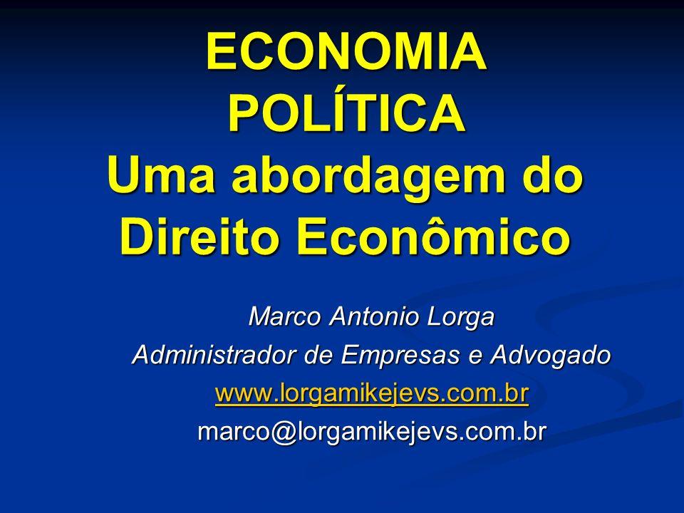 A codificação do direito econômico brasileiro V - Influência de valores políticos: segue a corrente ideológico-partidária (ideário político) de quem se encontra no poder.