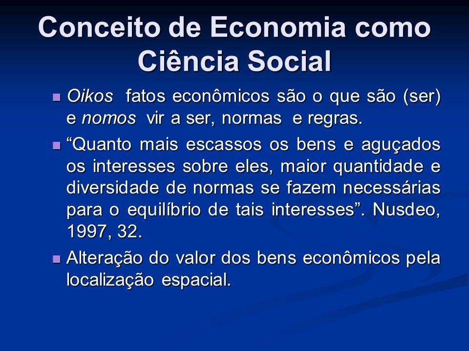 O fato econômico e suas relações.