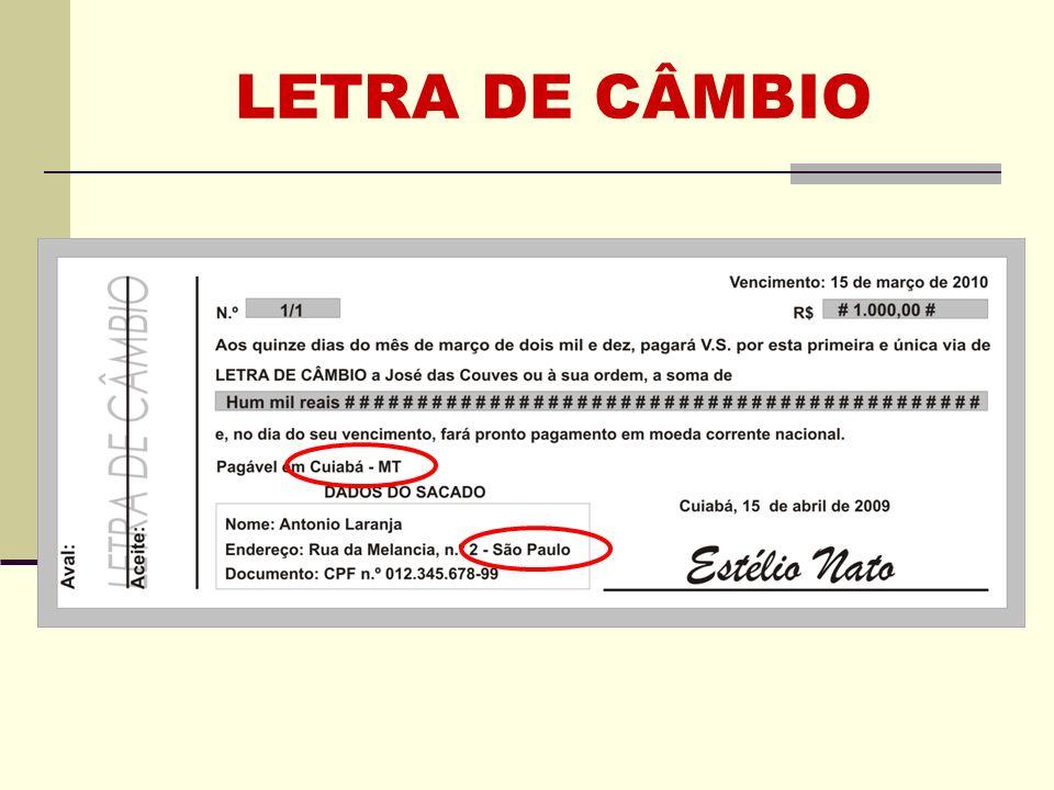 REQUISITOS (LU) Artigo 1º A letra contém: [...] 6 - o nome da pessoa a quem ou à ordem de quem deve ser paga; 7 - a indicação da data em que, e do lugar onde a letra é passada; 8 - a assinatura de quem passa a letra (sacador).