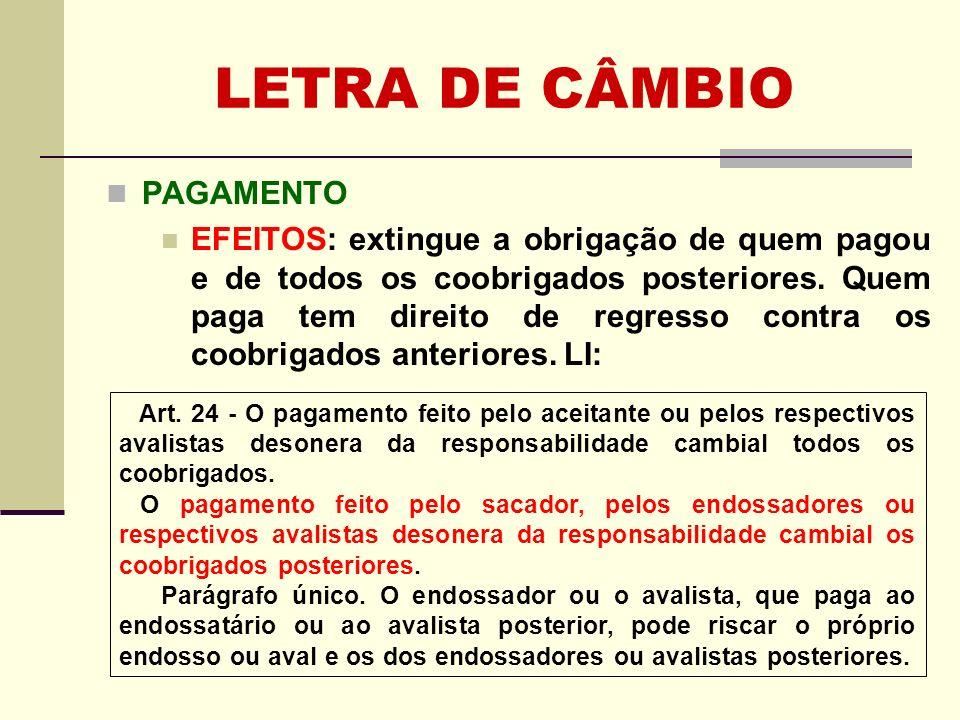 LETRA DE CÂMBIO APRESENTAÇÃO PARA PAGAMENTO x O Brasil estabeleceu reserva à Convenção de Genebra, em relação ao artigo 38.