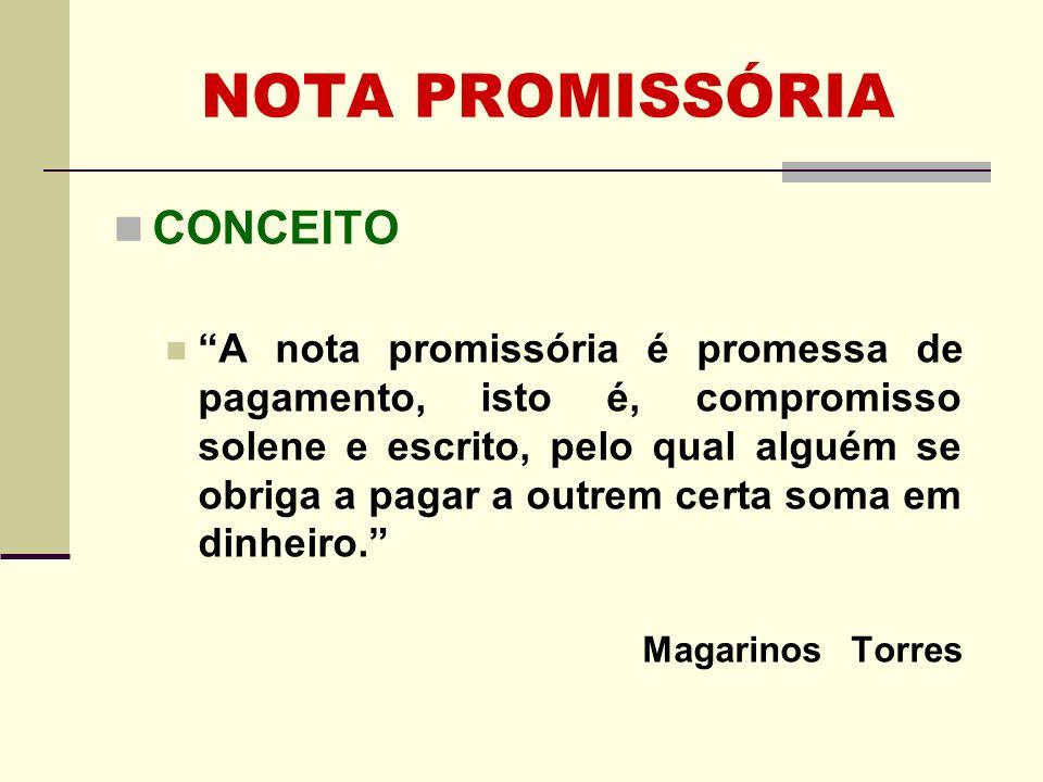 NOTA PROMISSÓRIA FIGURAS INTERVENIENTES SUBSCRITOR: é o EMITENTE da nota promissória.